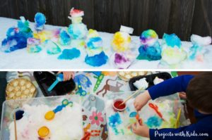 Painting Snow: a Winter Sensory Activity
