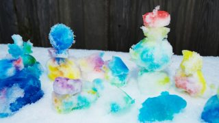 Painting Snow Winter Sensory Activity