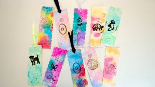 Unique Watercolor Bookmarks Easy Process Art for Kids