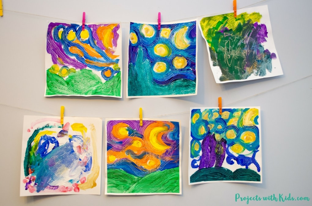 Paint A Stunning Van Gogh Masterpiece Using Forks Projects With Kids