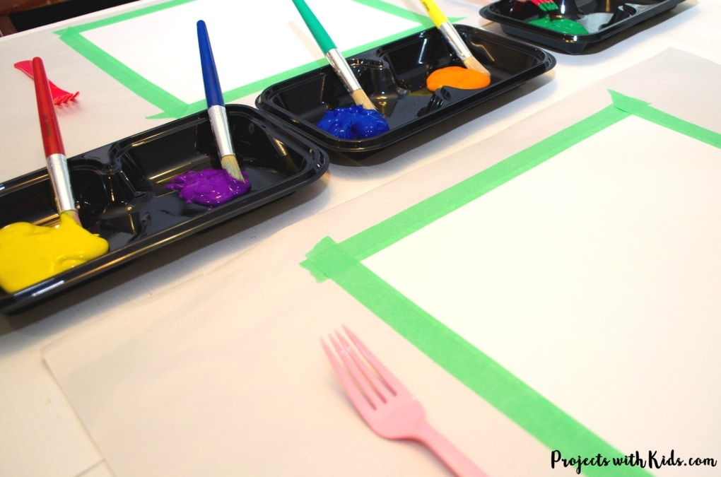 Paint Van Gogh's Starry Night using forks! Learn about creating movement and texture in painting like Van Gogh with this fun and engaging art project that will have your kids wanting to paint with forks over and over again!
