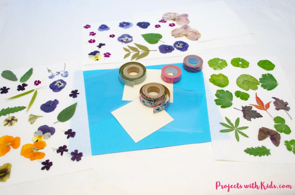 These lovely handmade coasters use pressed flowers and washi tape and are the perfect unique gift that kids will love to give!