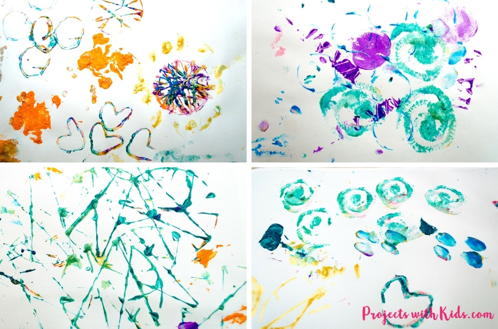 This super fun & simple printmaking for kids project requires almost no prep and will have kids engaged and creating with beautiful and surprising results!