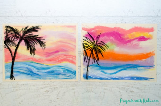 Create stunning chalk pastel sunsets with kids using simple techniques that are fun and easy to do. Kids will love learning and exploring with chalk pastels!