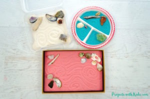 These zen gardens for kids are so easy and fun to make! This is a great calming sensory activity for kids that you can customize with different colors and accessories. They make beautiful handmade gifts that would be perfect for kids to make for someone special.