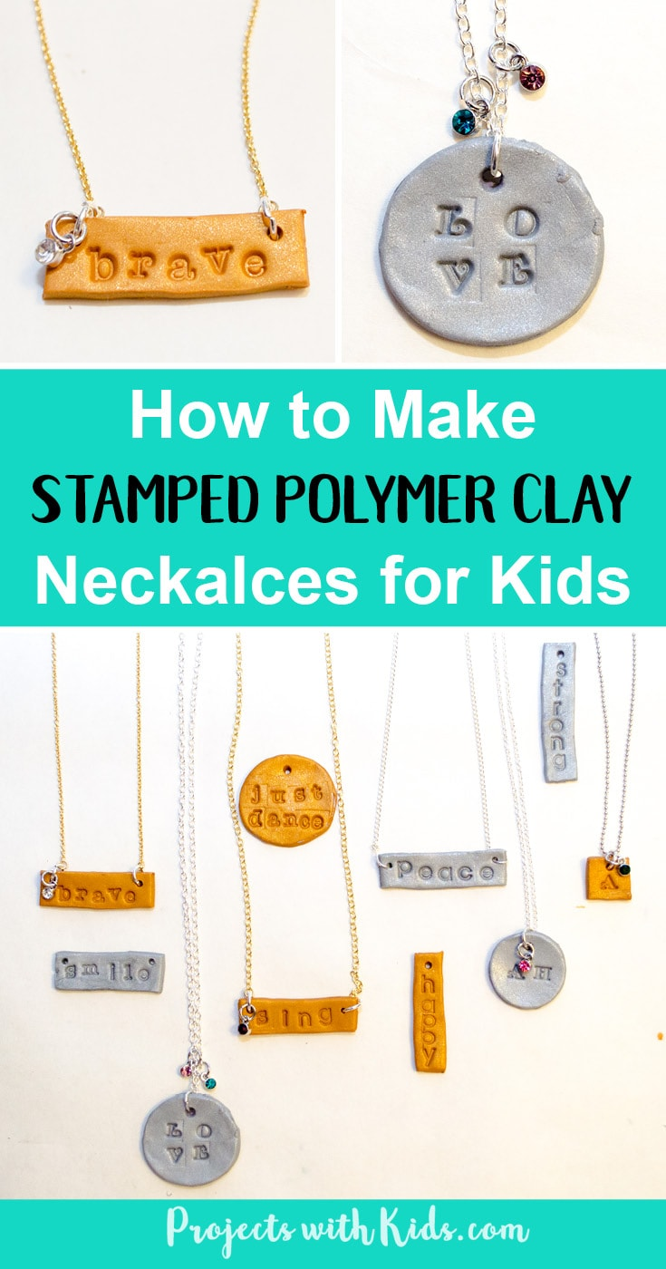 Learn how to make these stamped polymer clay necklaces that kids will have tons of fun making! These necklaces are sparkly and gorgeous and perfect for customizing, kids will love giving these as gifts and of course keeping some for themselves! Use initials, important dates, favorite hobbies, the possibilities are endless! Read the full post for all the details.