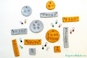 How to Make Stamped Polymer Clay Necklaces for Kids