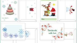Free Printable Christmas Gift Envelopes