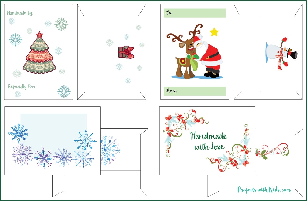 These Free Printable Christmas Gift Envelopes Are So Adorable And Perfect  For Wrapping Up Your Handmade