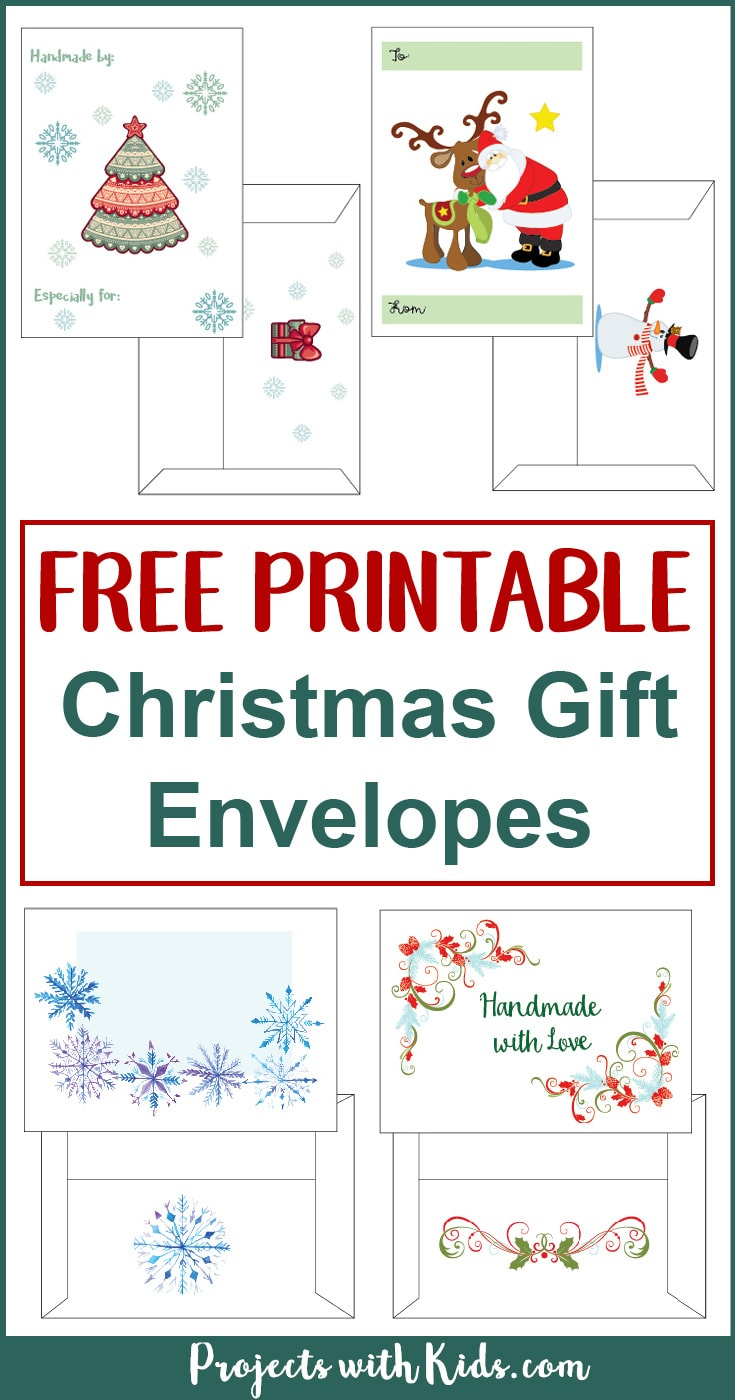 photograph regarding Printable Christmas Envelopes named Cost-free Printable Xmas Present Envelopes Initiatives with Little ones