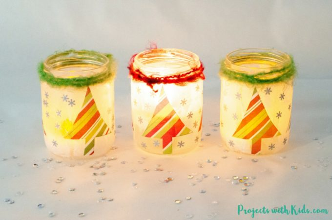 Start saving your jars, these magical Christmas lanterns are so fun and easy to make, youand your kids will want to make more than one! They look absolutely stunning lit up with a candle inside and would make the perfect addition to any holiday decor.