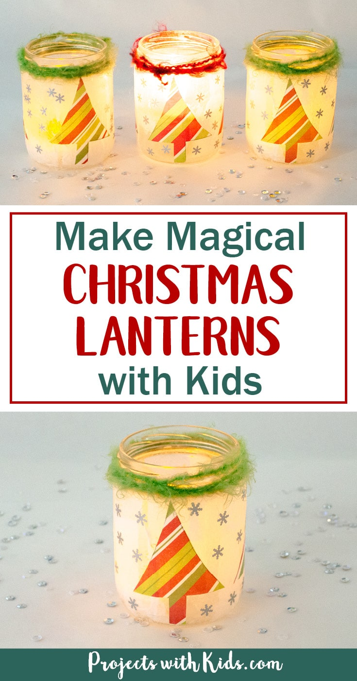 Start saving your jars, these magical Christmas lanterns are so fun and easy to make, you and your kids will love making these! They look absolutely stunning lit up with a candle inside and would make the perfect addition to any holiday decor.