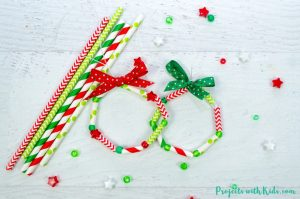 These wreath ornaments with paper straws are the perfect colorful addition to any Christmas tree. An easy and fun Christmas craft for kids of all ages.