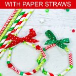 Paper straw wreath ornaments.