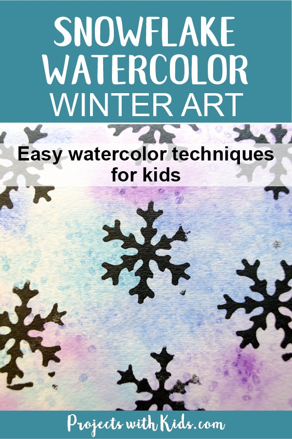 Create Stunning Snowflake Watercolor Winter Art With Simple Techniques That Kids Of All Ages Can
