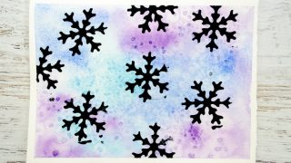 Snowflake Watercolor Winter Art