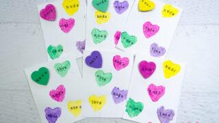 Conversation Hearts Valentine's Day Cards & Pins