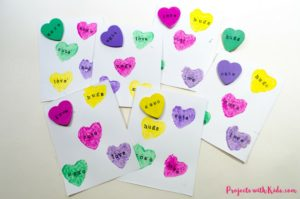 Conversation Hearts Valentine's Day Cards & Pins