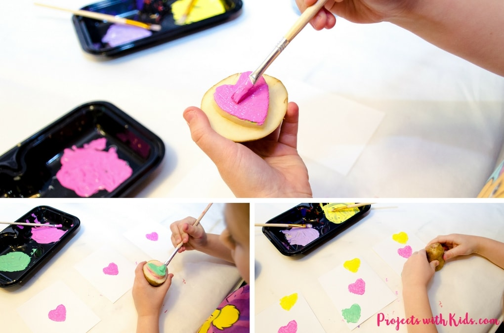 These conversation hearts cards and pins are so fun for kids to make! The perfect Valentine's Day craft and art project, kids will love making these cards and jewelry for their friends on Valentine's Day.