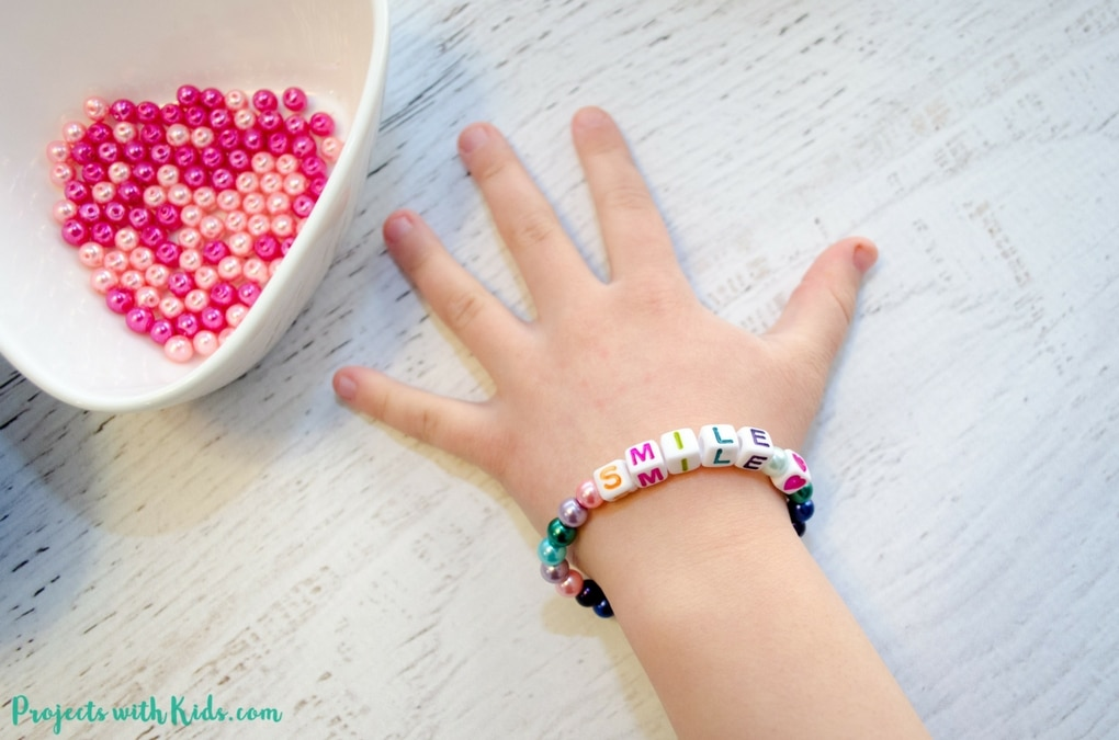 Kids will love making these colorful beaded friendship bracelets for their friends. These beaded bracelets are super easy to make and kids will have fun coming up with positive messages to share with their friends. A fun and easy DIY jewelry project for kids!