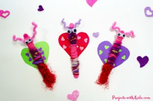 Adorable Popsicle Stick Love Bugs