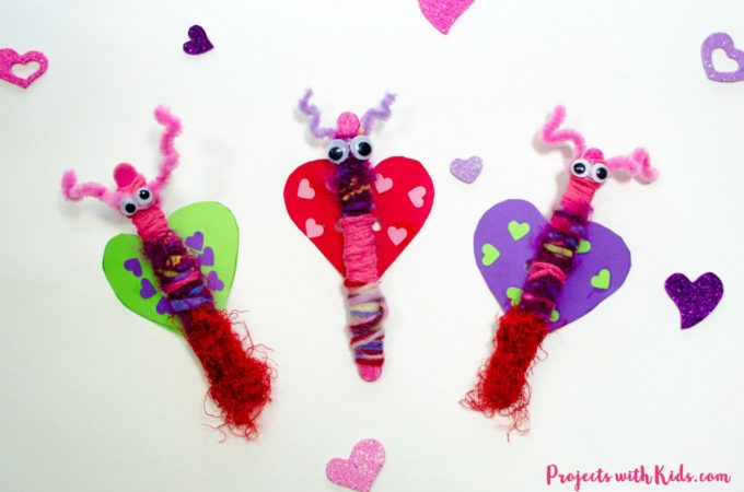 Popsicle stick love bugs make the cutest Valentine's Day craft for kids of all ages! This is an easy activity to set up and also makes a great fine motor skills craft for preschool aged kids. Kids will love making and playing with their adorable love bug creations!