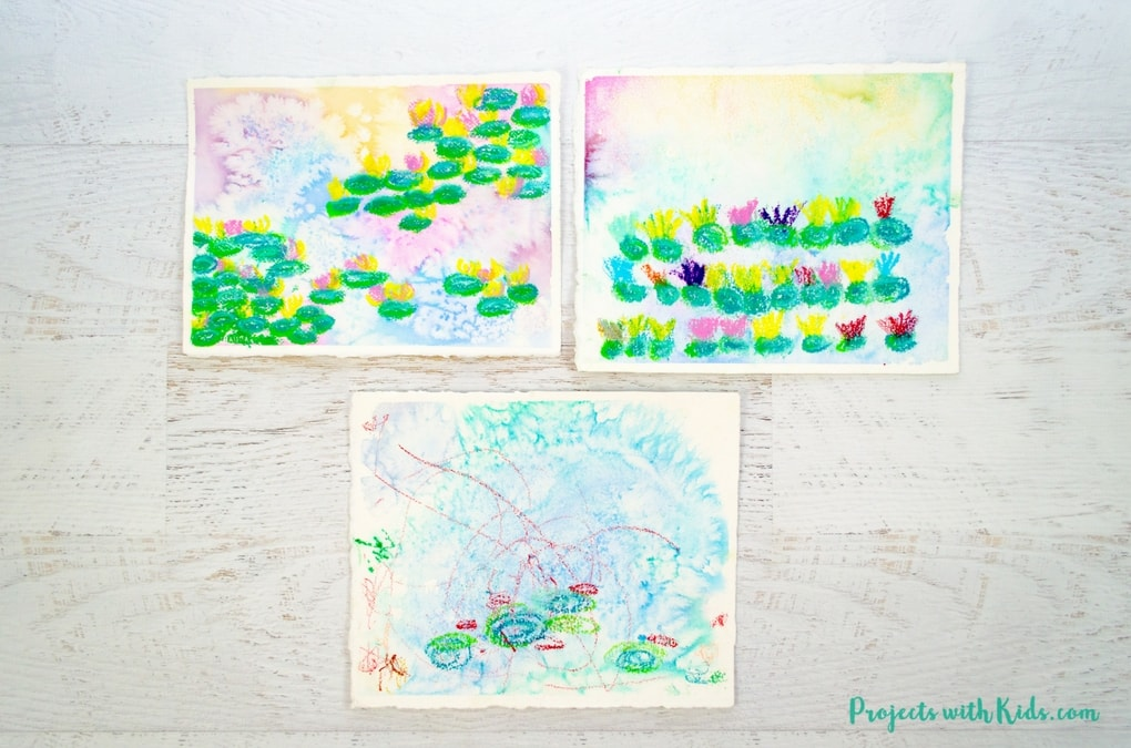 Monet Water Lilies Art Project For Kids Projects With Kids