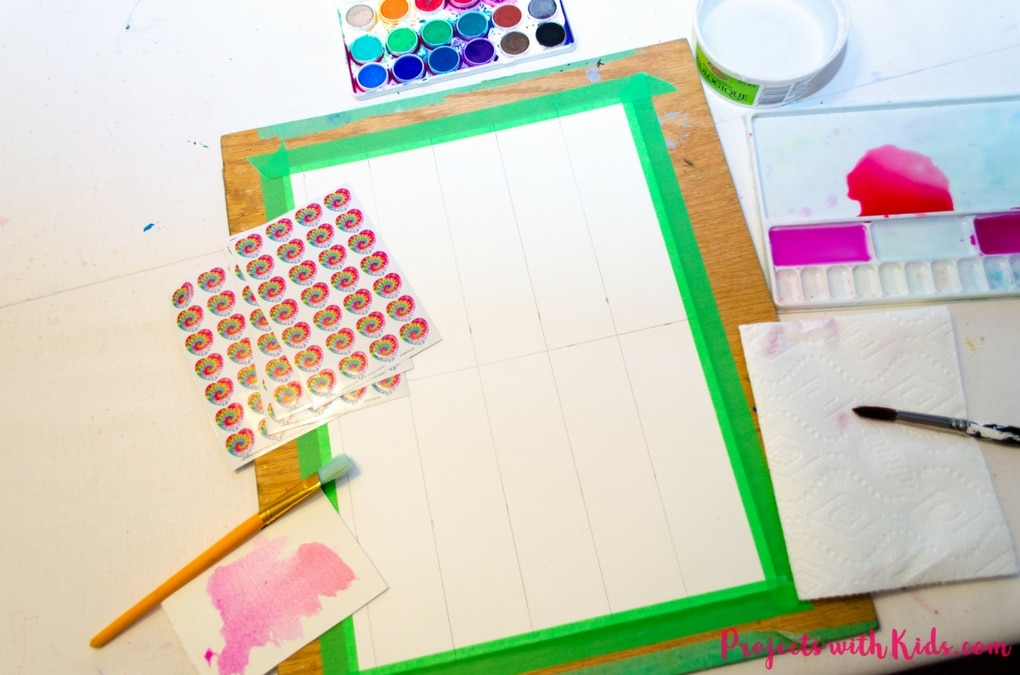 Kids can try out this unique watercolor technique and make beautiful and colorful Valentine's bookmarks for their friends. A great non-candy Valentine's Day art project!