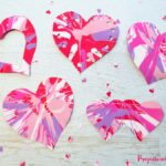 Easy Heart Spin Painting for Valentine's Day