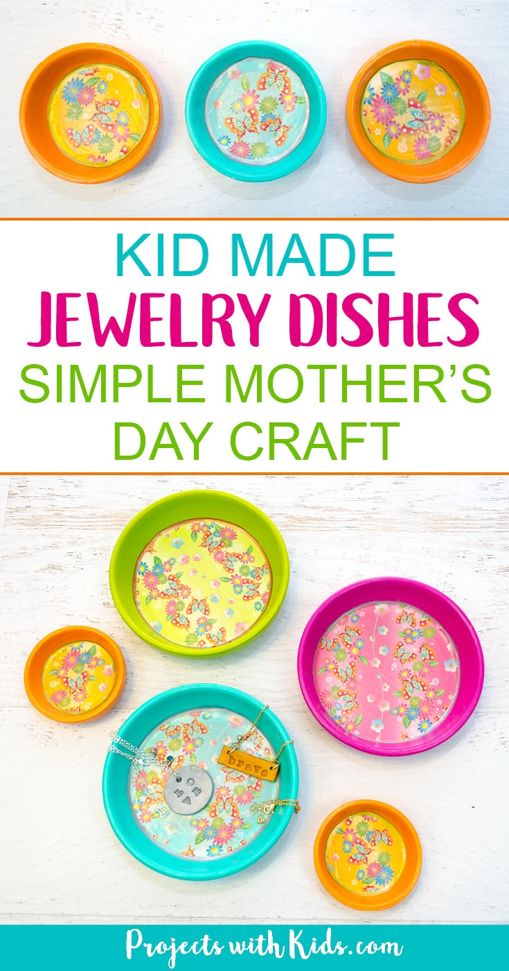 craft ideas for mother day kid made jewelry dishes s day craft projects with 6209
