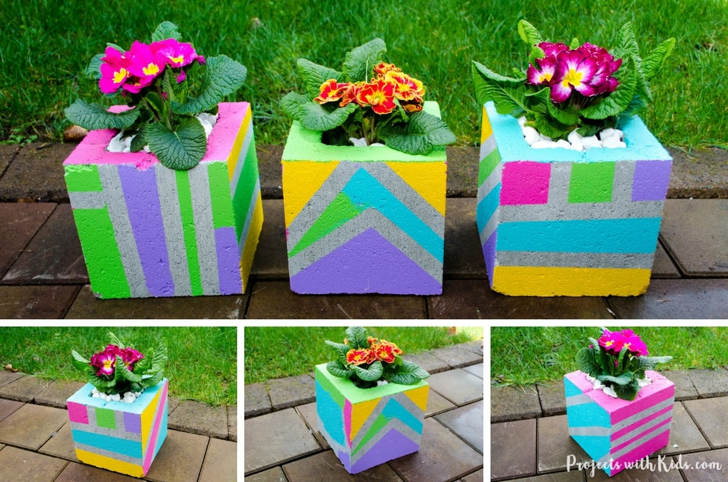 Add Some Wow Factor To Your Patio Or Balcony With These Fun U0026 Colorful Painted  Cinder