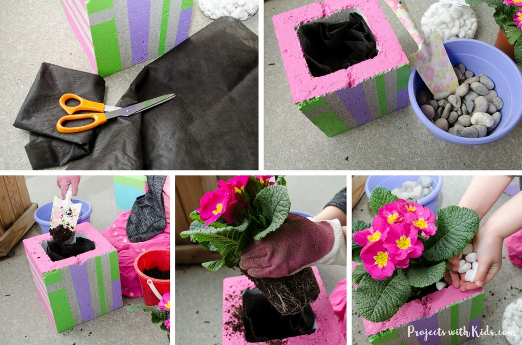 Add some wow factor to your patio or balcony with these fun & colorful painted cinder blocks. These DIY planters make such a fun garden project for kids and a great family outdoor activity for spring or summer.