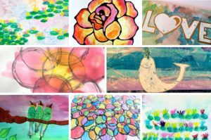 These watercolor painting ideas will inspire you and your kids to create and have fun! There are so many creative ideas for kids of all ages, you are sure to find one (or more!) that your kids will want to try. Click through to find ideas for kids of all ages, process art ideas, easy watercolor projects for preschoolers and beautiful holiday and seasonal watercolor projects.