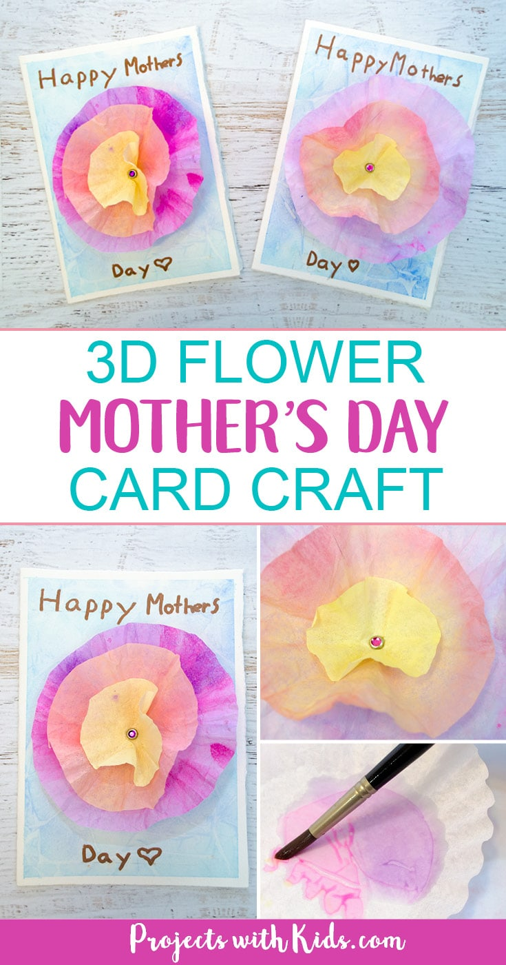 3d Flower Mother S Day Card Craft Projects With Kids