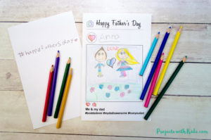 This free printable father's day card activity is so fun! Using an Instagram style template, kids can draw a picture of them with their dad and write their own hashtag message on the inside. Kids of all ages will love making and giving this card to their dads for Father's Day.