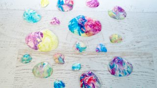Easy Marbled Seashell Art for Kids