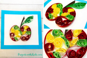 Easy Paper Quilling Apple Craft