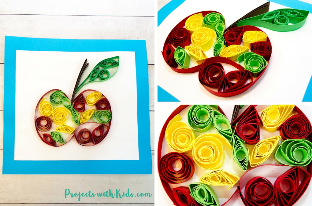 Easy Paper Quilling Apple Craft No Special Tools Needed