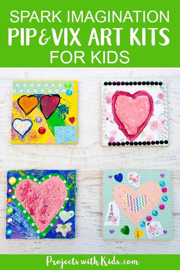 Create and explore new art techniques and learn about different artists and genres with Pip & Vix Art Kits for Kids. Each box is filled with fun and creative art projects and crafts that kids will be excited to dive into and start creating! #projectswithkids #pipandvixartkits #kidsart #craftsforkids