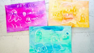 Watercolor Resist Surprise Ghost Painting