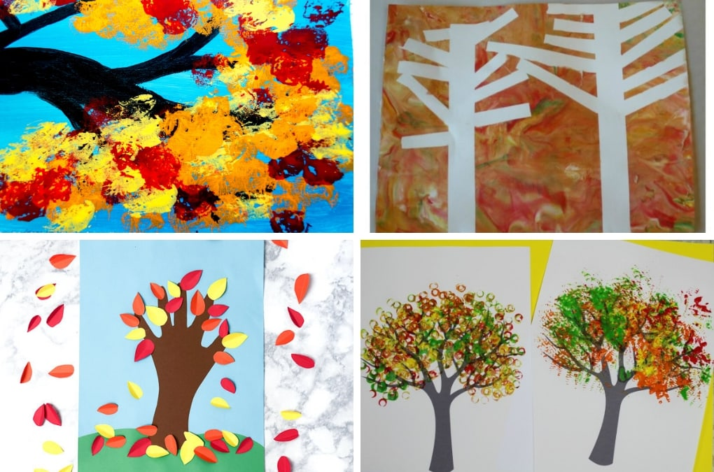 These fabulous fall art projects for kids will inspire creativity and fun! There are so many creative ideas for kids of all ages, you are sure to find one (or more!) to try. Click through to find fall tree ideas, art projects with fall leaves, pumpkins, animals and more!