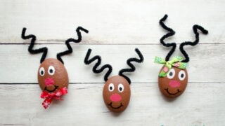 The Cutest Reindeer Painted Rocks for Kids to Make