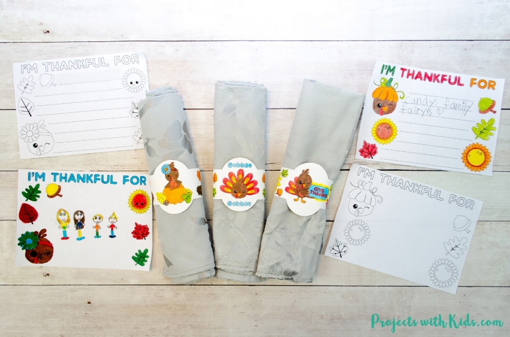 photograph regarding Printable Napkin Rings named Thanksgiving Little ones Desk Absolutely free Printables Tasks with Young children