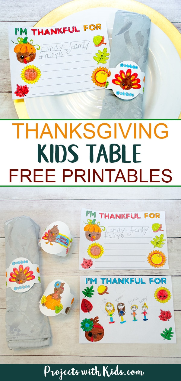 Thanksgiving Kids Table Free Printables Projects With Kids