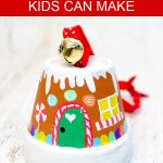 Transform mini clay pots into the sweetest gingerbread house ornaments! Kids will love making this adorable Christmas craft to hang on the tree or give as a special gift. #gingerbreadhouse #diyornaments handmadechristmas #projectswithkids