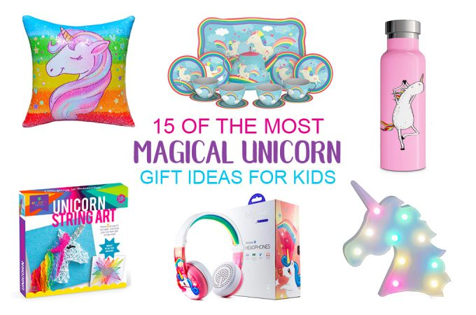 These unicorngift ideas will have you believing in unicorns and dreaming about rainbows and glitter! There are so many awesome gift ideas for the unicorn obsessed kid on your list. There are gift ideas for younger kids as well as older kids and tweens, crafty unicorn gifts and gorgeous unicorn decor that would brighten up any room.