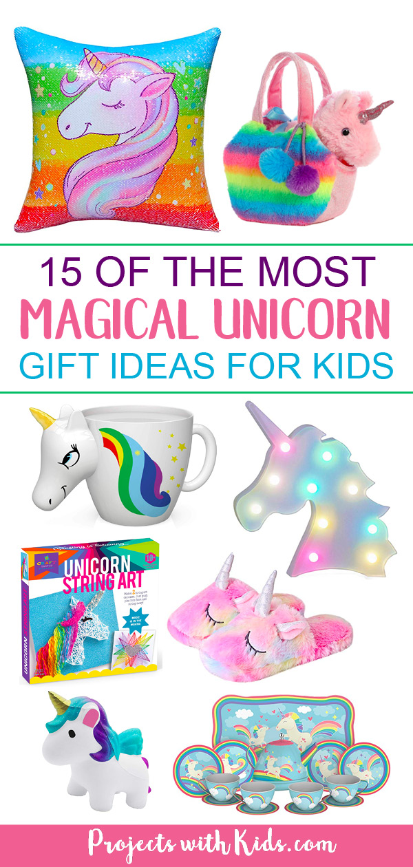 These unicorn gift ideas will have you believing in unicorns and dreaming about rainbows and glitter  sc 1 st  Projects with Kids & 15 of the Most Magical Unicorn Gift Ideas for Kids | Projects with Kids