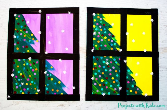 Kids will love creating this beautiful Christmas tree art project using a mixed media approach. Fun and easy techniques make this a wonderful Christmas craft activity!