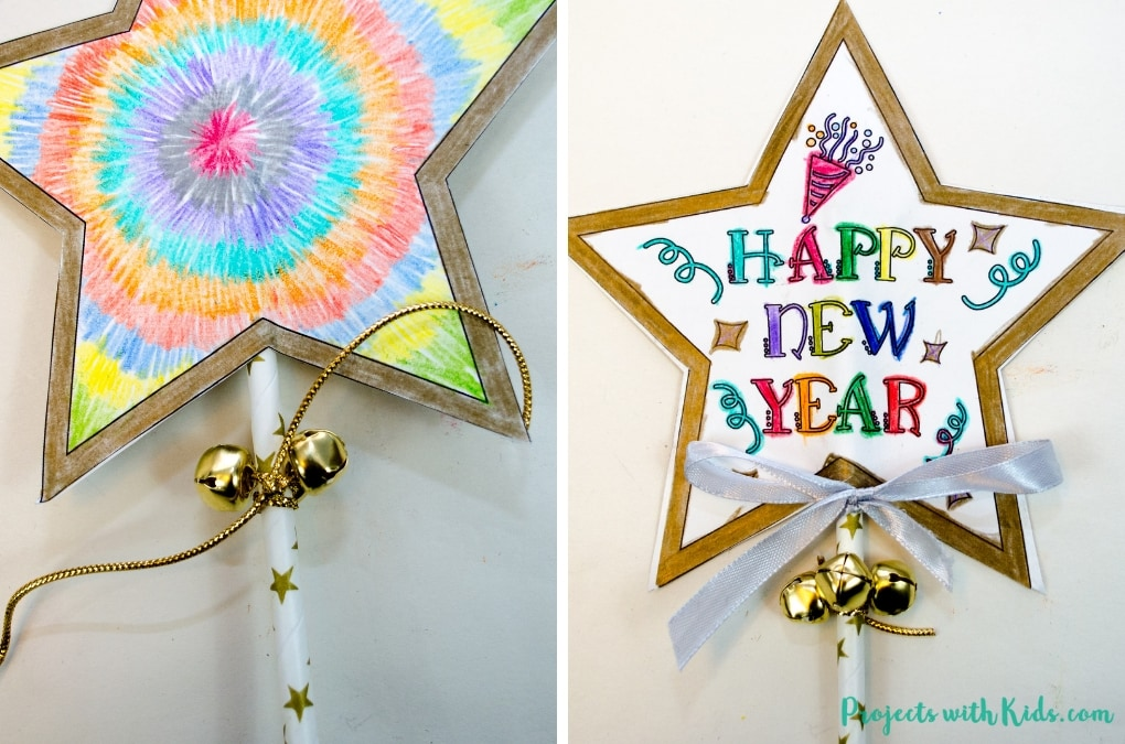 New Year's Eve Wand Craft with Free Printable | Projects ...