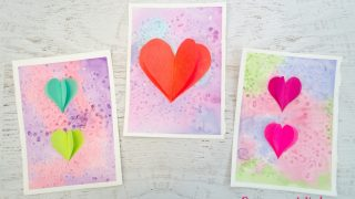 Mixed Media Heart Art Project for Kids